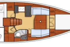 oceanis 38 - 2C 1T - L shape galley