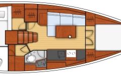 oceanis 38 - 2C 1T cuisine en long - side galley 2