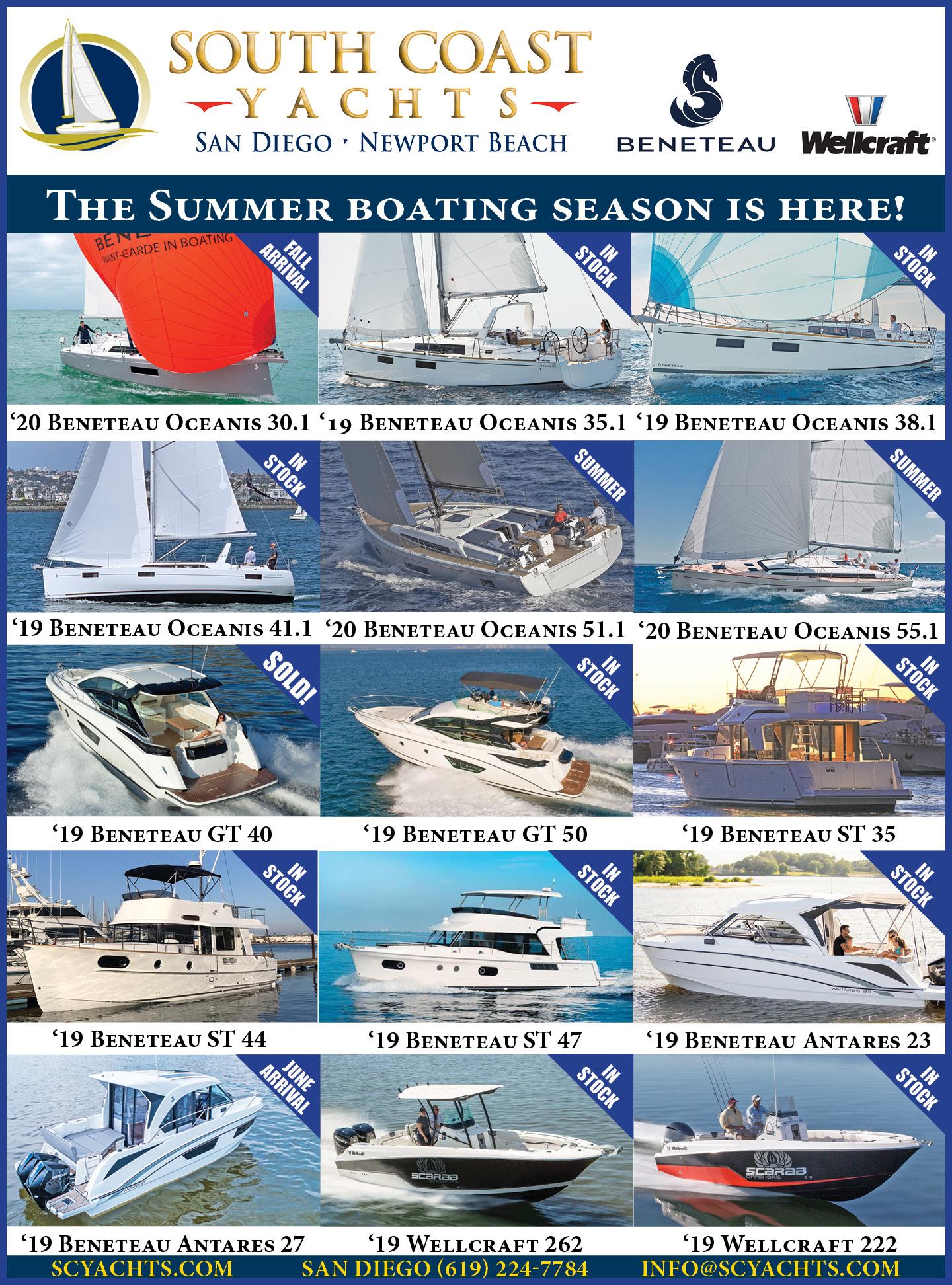 Sailboat Specials South Coast Yachts