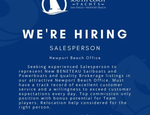 We're Hiring – Salesperson, Newport Beach Office