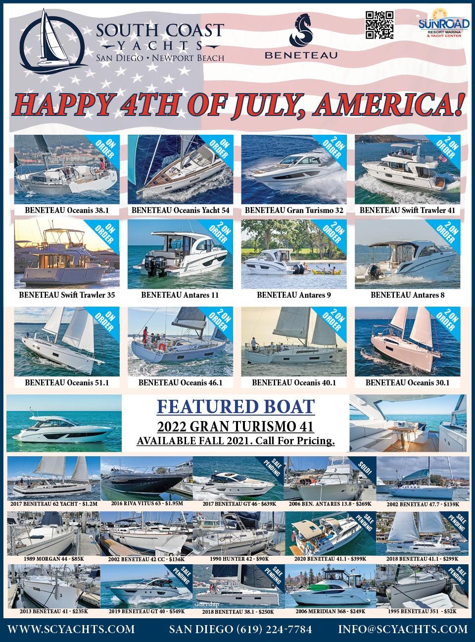 South Coast Yachts Ad